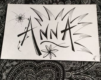 Anna - Freehand drawing