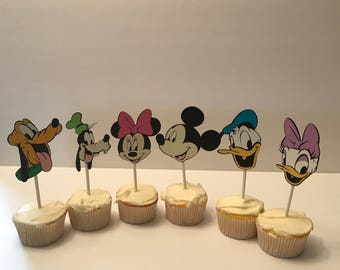 Mickey and Friends Cupcake Toppers