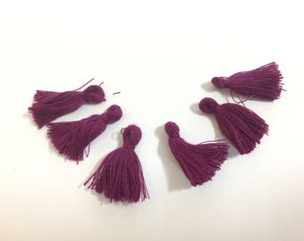 50 cotton PomPoms unattached 25mm purple for creations of jewels
