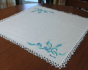 hand painted linen table centerpiece