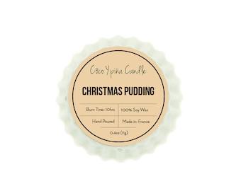 Christmas pudding tart