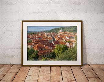 Metal Print - Prague, City View Photography - Metalic Aluminum Print, Fine Art, Wall Art, Nature Print, Home Decor, Photography