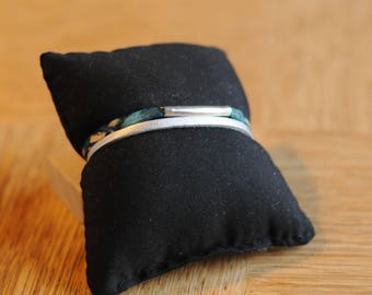 Suede Silver Ribbon and colorful bracelet