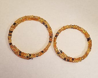 Amber-toned Memory Wire Bangle