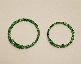 Green Memory Wire Bangle