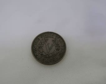 1904 US five cent coin