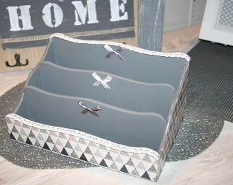 modern grey and white lace box