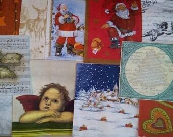 lot 15 Christmas themed napkins