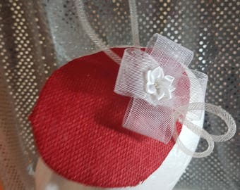 Red hessian disc facinator