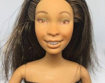 Barbie repaint in party dres