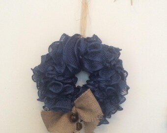 Navy scrunched wreath