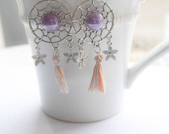 dream catchers flowers earrings