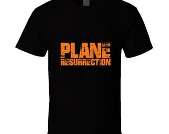 Plane Resurrection Black Tee T Shirt