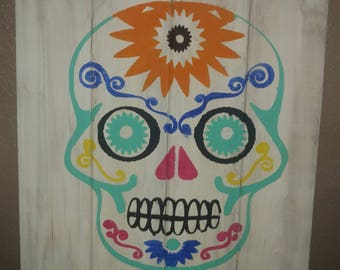 Dios de la muerte skull painting
