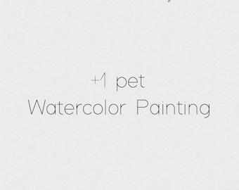 Additional Pet - PRINTABLE Custom Watercolor Pet Portait