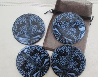 blue and black pretty coasters