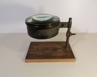 Large old Burl - Old magnifying glass