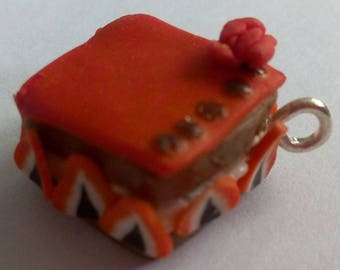 Strawberry cake charm pendant
