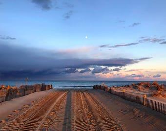 Beach sunset photography print