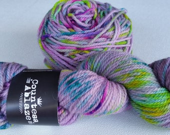 YARN, imported, rare color, IMPORTED YARN, Hand dyed, Countess Ablaze, superwash cheviot wool, imported,