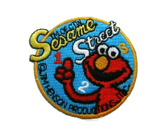 Sesame Street Elmo Iron On Patch Cartoon Embroidered Applique Patches For Jackets