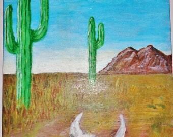 Desert Acrylic Painting