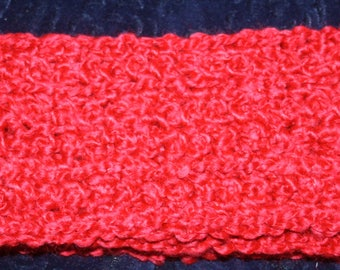 Crochet Scarf ~  Candy Apple Red ~  Approx  4 x 62 ~ SHIPPING PAID
