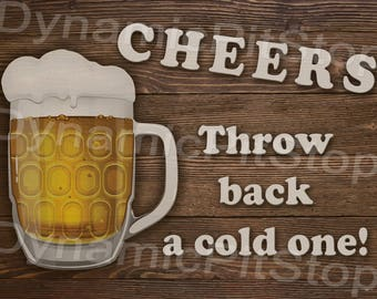 30x40cm Cheers Beer Rustic Tin Sign