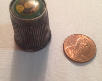 Vintage Pewter ET Florida Thimble