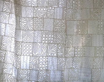 Indian PATCHWORK - Akka creation in white cotton, cut work or lace sold by the yard