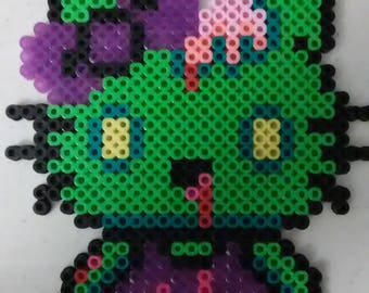 Zombie Hello Kitty Perler
