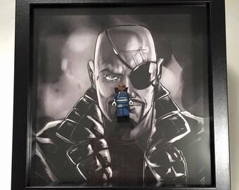 Nick Fury lego frame