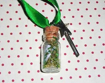 (Bottle necklace) fairy dust vial necklace