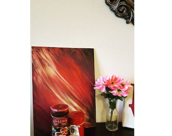 Abstract Acrylic Painting Warm