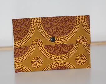 African fabric, Purse / ankara wallet, make up storage bag, pantyliner / tampon storage bag