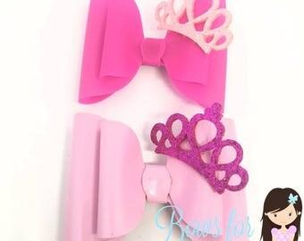 Set of princess bows