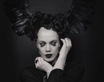 Black Wings Headdress