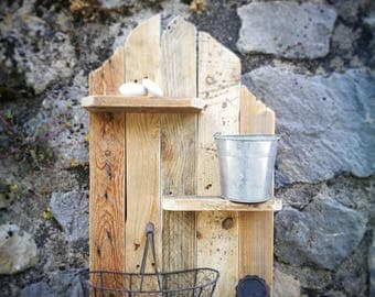 Handmade from upcycled pallet shelf
