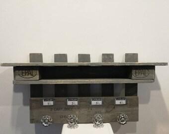 Racks made House weathered gray