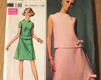 Two Piece Dress, Simplicity #8090, Miss Size 10