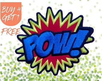 Cool Patches Superhero Patches Iron On Patch Embroidered Patch Pop Art Pow