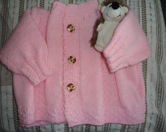 Soft pink vest for girl