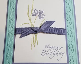 Handmade birthday card, elegant card