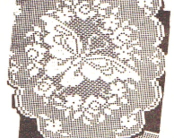 Alice Brooks PDF Crochet Pattern, Butterfly Arm Chair Set