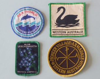 4x Australiana Patches