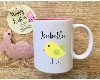 Easter mug with name cute easter gifts for kids easter gift easter mug with name cute easter gift for niece childrens easter gifts unique mugs easter keepsake negle Images