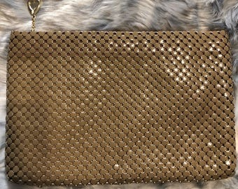 FREE SHIPPING Vintage Whiting & Davis Metal Mesh Clutch