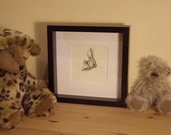 Bunny - Ink Illustration - Children's Wall Art - Nursery Decor - Giclee Print