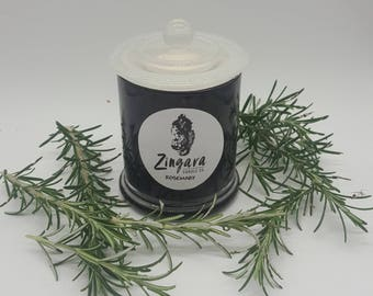Rosemary scented soy candle 100% vegan