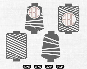 Spool threads Svg, sew threads Clipart, Monogram Frame cricut, cameo, silhouette cut files commercial & personal use